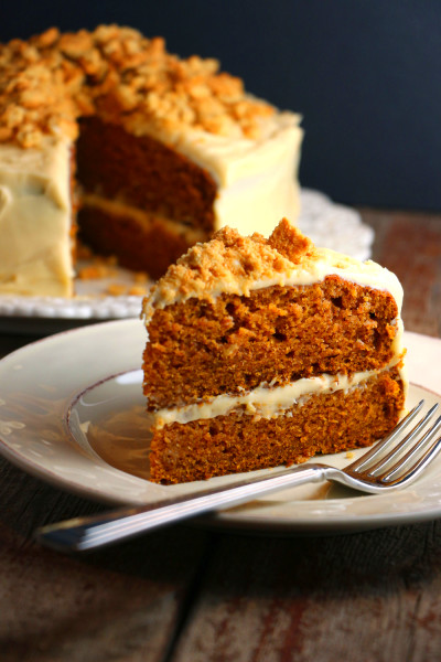 Spiced Pumpkin Cake with Molasses Cream Cheese Frosting ...
