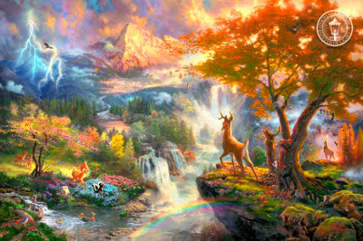 These images can be found at http://thomaskinkade.com/