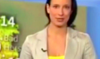 Weather girl accidentally reveals too much during live ...