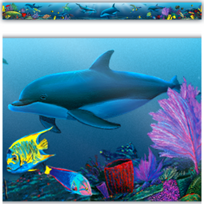 Ocean Life Straight Border Trim from Wyland - TCR4375 ...