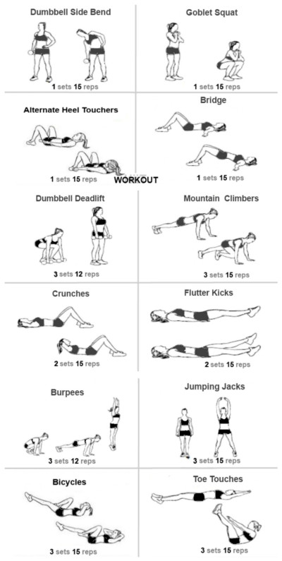 Ab Workout For Muffin Top - WorkoutWalls