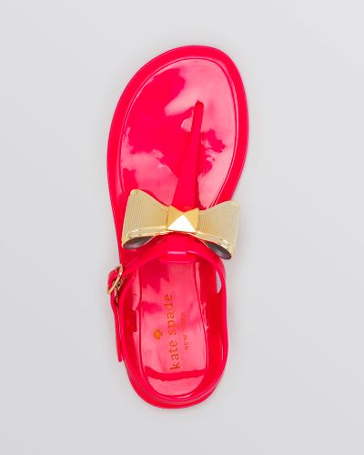Kate spade Jelly Thong Sandals - Fab in Pink (Fuschia Jelly) | Lyst