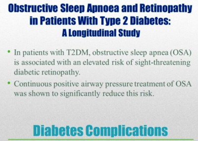 Obstructive sleep apnea, Type 2 Diabetes and Retinopathy – Caring for older adults in the bay area