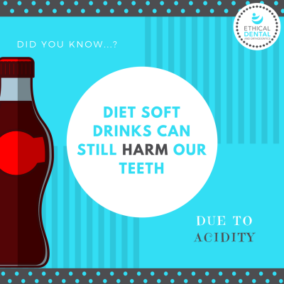 Did you know... Diet soft drink is harmful to oral health ...