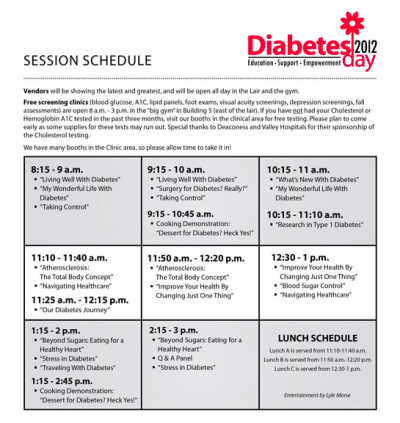 Diabetes Day 2012 Tickets, Spokane | Eventbrite
