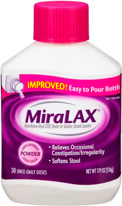 MiraLAX 30 Once Daily Doses Powder Laxative | Hy-Vee ...