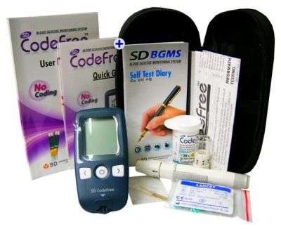 SD Codefree Blood Sugar Meter (mmol/L) Glucose Monitor ...
