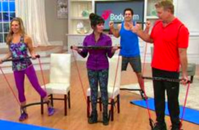 Marie Osmond & Stacey Stauffer at QVC with the Body Gym ...
