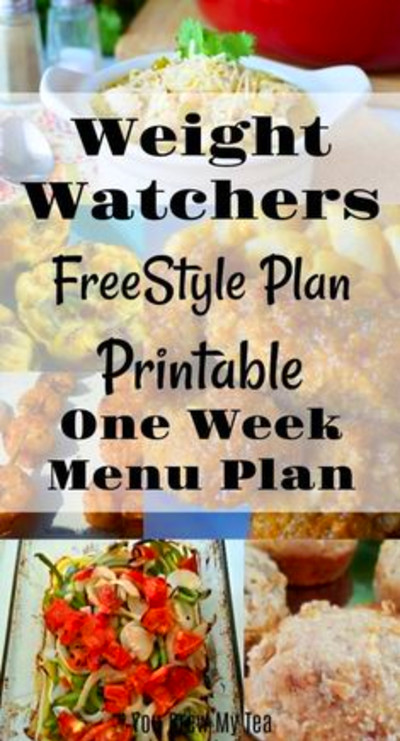 Weight Watcher Friendly Meal Plan #1 with old Smart Points ...