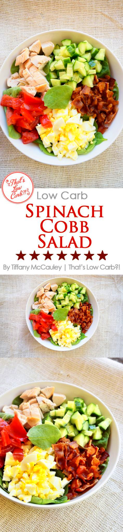 This delightful, low carb salad is filling, nutritious and fits a low carb eating plan perfec ...