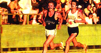 Pre's last race. 5k, Hayward field, May 29, 1975 with ...
