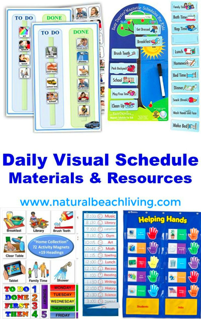Perfect Daily Visual Schedule Materials and Resources | Rhythms Routines Rituals | Pinterest ...