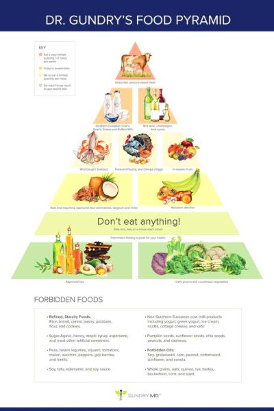 """Dr. Gundry's New Food Pyramid for Vitality (""""The Plant ..."""
