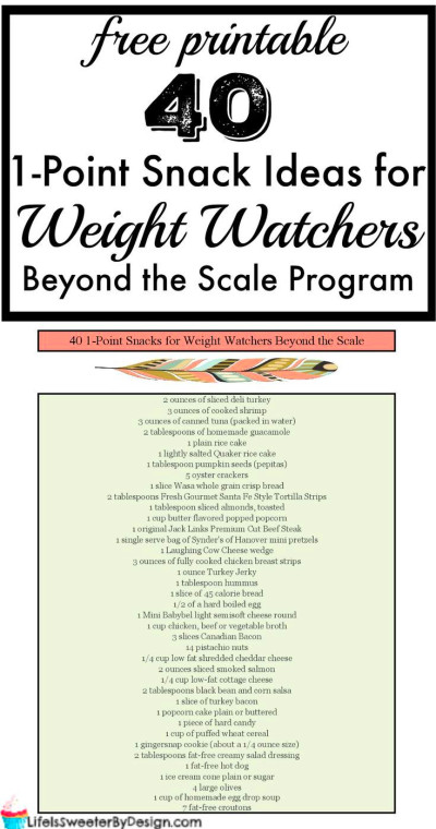 1 Point Snack Ideas for Weight Watchers Beyond the Scale ...