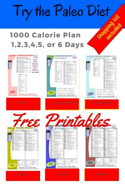 Paleo Diet: 1000 Calories Per Day | Paleo diet menu ...