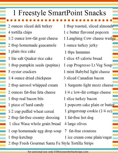 1 Freestyle SmartPoint Snack Ideas for Weight Watchers ...