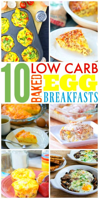 Baked Eggs – 10 Low Carb Breakfast Ideas | High carb foods ...