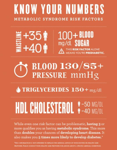 Know Your Numbers: Metabolic Syndrome Risk Factors (leads to heart disease) | Health and fitness ...