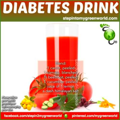 A DRINK FOR DIABETICS... As a general rule for diabetics ...