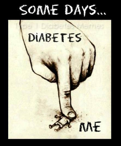 "And people say I'm ""lucky"" when I skip PE because my blood sugar is 400. 