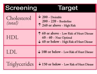 cholesterol and triglyceride levels | Healthy Living ...