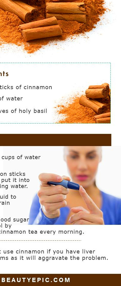 How to Take Cinnamon for Diabetes? | Home Remedies | Cinnamon for diabetes, Diabetic snacks ...