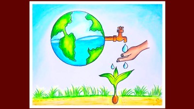 How To Draw Save Water Save Earth Poster | World ...