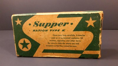 1945 US Military WW2 K Ration Supper Food MRE Review ...