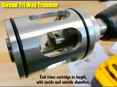 TRI TRIM case trimmer/ Chamfers inside and outside of case ...