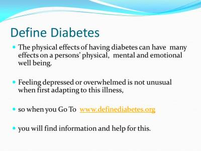 Define Diabetes - YouTube