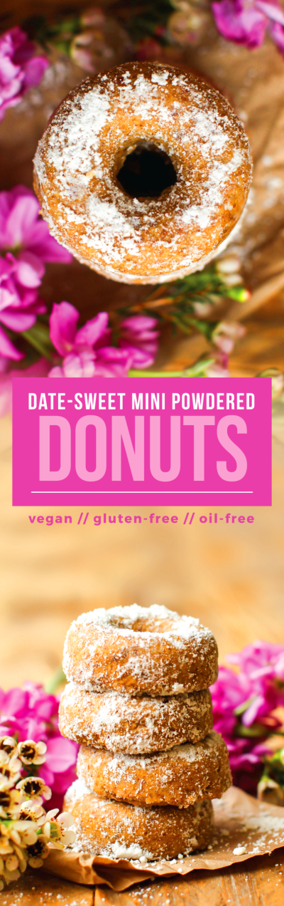 Vegan Baked Donuts Without Any Sugar {gluten-free & oil-free}