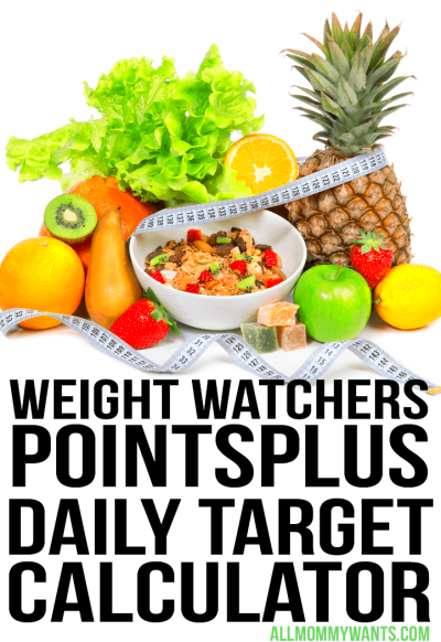 Free Weight Watchers PointsPlus Daily Target Calculator ...