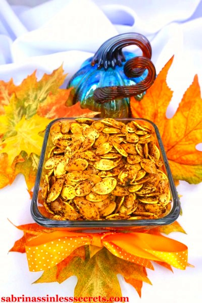 Spicy Roasted Pumpkin Seeds - Sabrina's Sinless Secrets