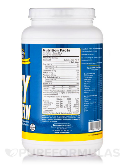 Whey Protein Unflavored - 32 oz (908 Grams)