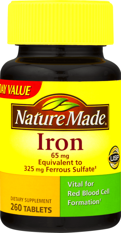 Nature Made Iron Dietary Supplement Tablets, 65mg, 260 ct - Best Minerals