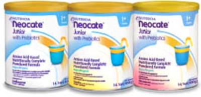 Neocate Junior with Prebiotics Pediatric Oral Supplement Strawberry 14.1 oz. Can Powder 2 Pack ...