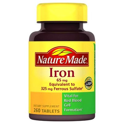 ... Made Iron Dietary Supplement Tablets, 65mg, 260 count - Walmart.com