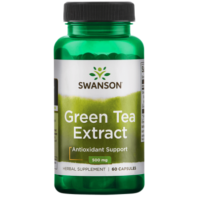 Swanson Green Tea Extract 500 mg 60 Caps - Walmart.com