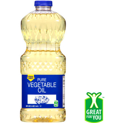 Price First Pure Vegetable Oil, 48 fl oz - Walmart.com