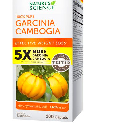 Nature's Science Garcinia Cambogia Dietary Supplement Caplets, 100 ...