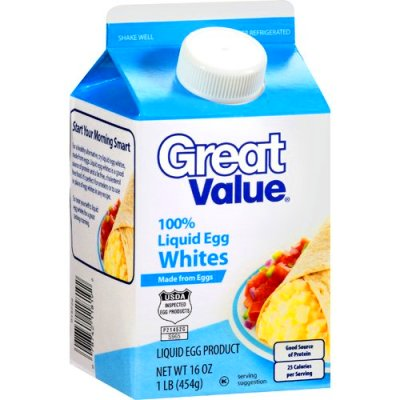 Great Value 100% Liquid Egg Whites, 16 oz - Walmart.com