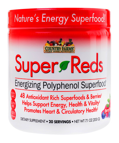 Country Farms Berry Flavor Superfood Super Reds Powder ...
