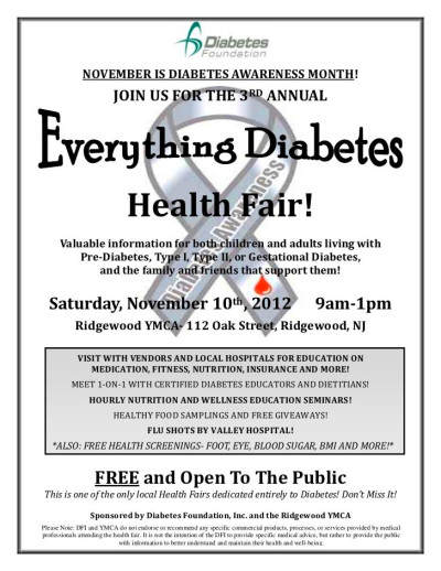 2012 diabetes awareness flyer