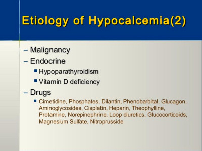 A New Perspective on Hypocalcemia