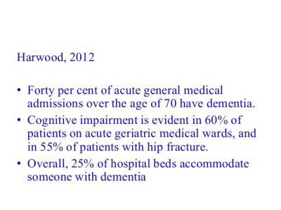 The importance of community hospitals for dementia care