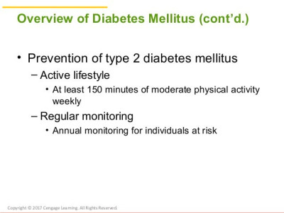 Chapter 20 Nutrition and Diabetes Mellitus