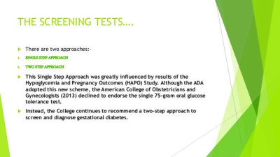 GESTATIONAL DIABETES MELLITUS SCREENING