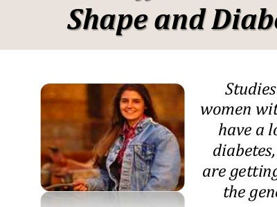 Gene Affects Women's Body Shape and Diabetes Risk | Parrish Medical C…