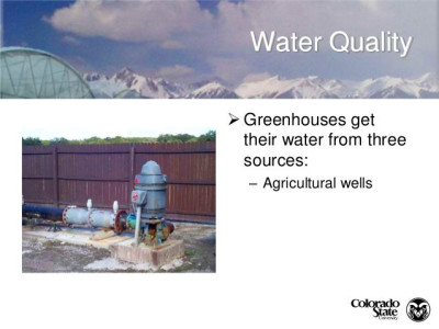 Irrigation water recycling in the greenhouse