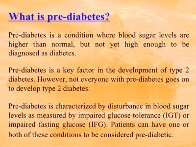what is pre diabetes pre diabetes is a condition where